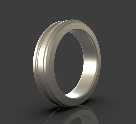 Jewelry Simple Ring 3D Print 243399