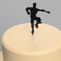 Small Cake Topper : Fortnite 3D Printing 243412