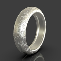 Small Ring With Nature Details 3D Printing 243469