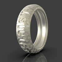 Small Ring Daisy I Love You 3D Printing 243483