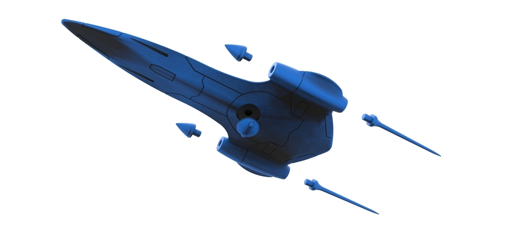 Diecast model Naboo Queens Royal starship Scale 1:200 3D Print 243535