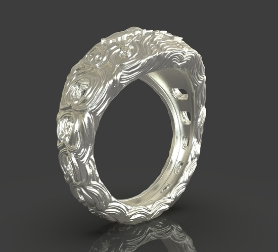 Jewelry Flower Ring 3D Print 243536