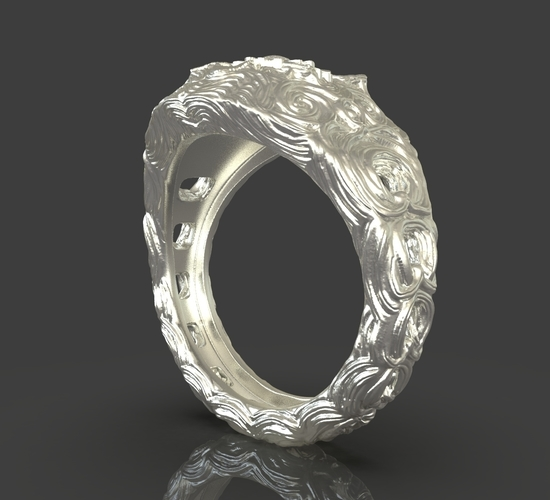 Jewelry Flower Ring 3D Print 243538