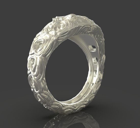 Jewelry Flower Ring 3D Print 243541