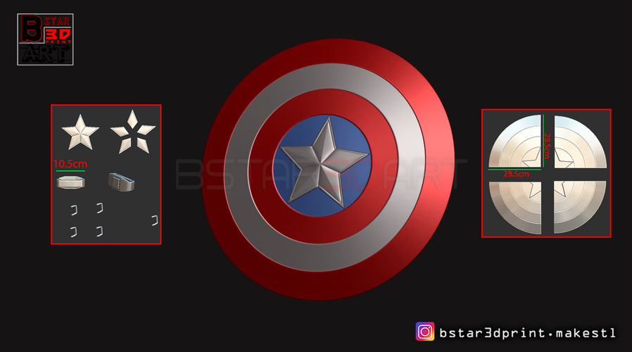 The captain America Shield - Infinity War - Endgame - Marvel 3D Print 243559