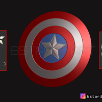 Small The captain America Shield - Infinity War - Endgame - Marvel 3D Printing 243559