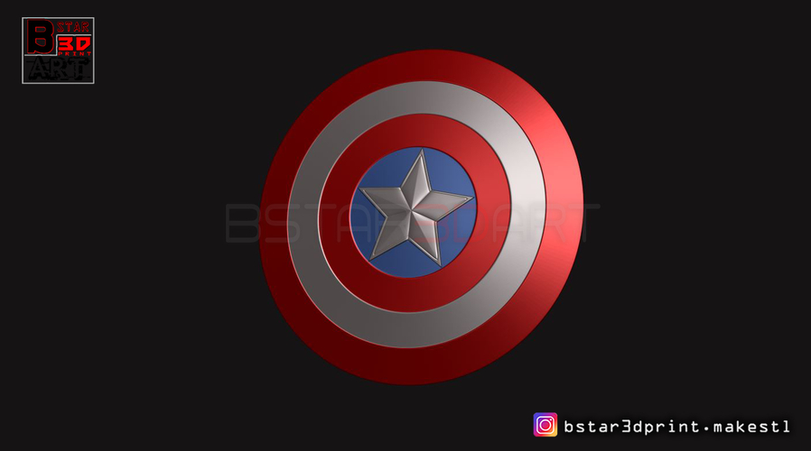 The captain America Shield - Infinity War - Endgame - Marvel 3D Print 243560