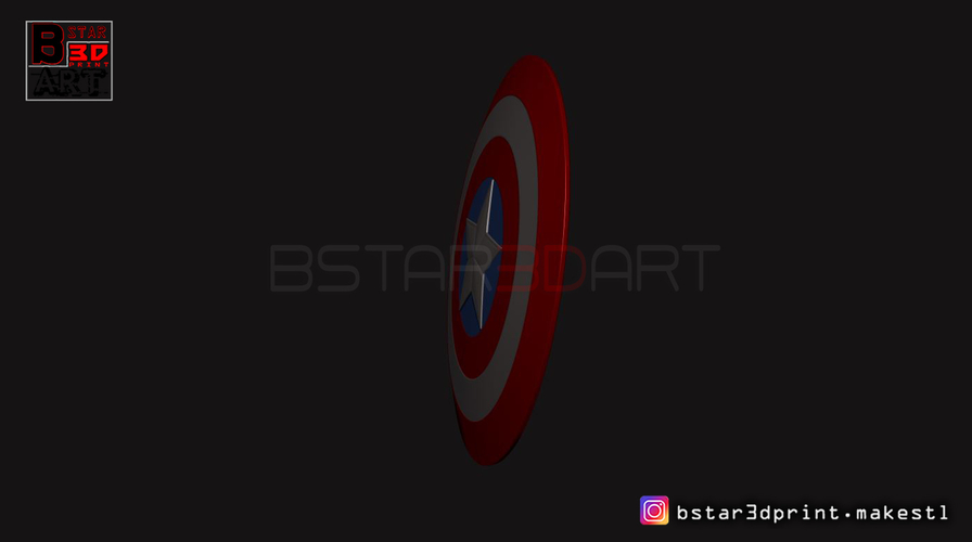 The captain America Shield - Infinity War - Endgame - Marvel 3D Print 243561