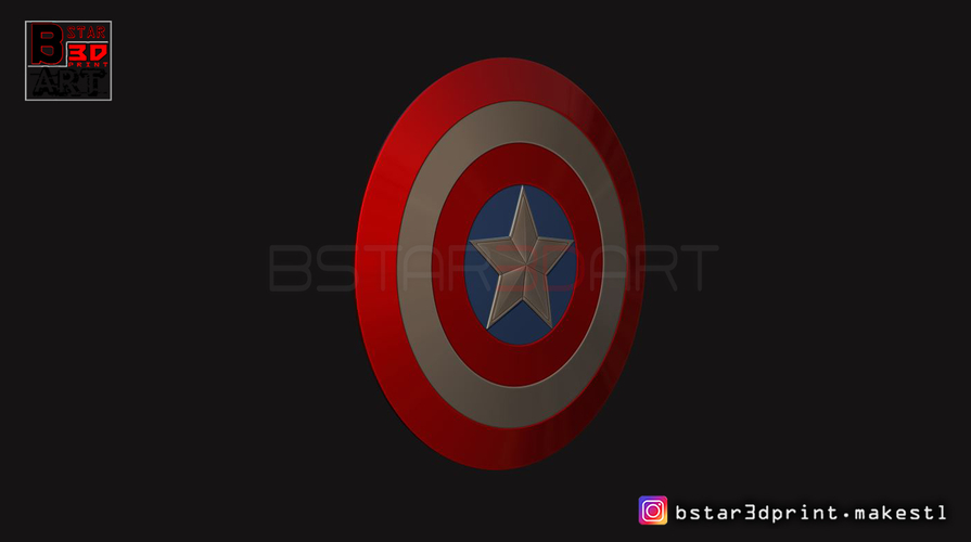 The captain America Shield - Infinity War - Endgame - Marvel 3D Print 243564