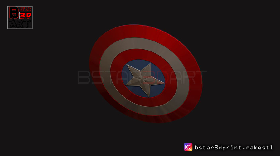 The captain America Shield - Infinity War - Endgame - Marvel 3D Print 243565