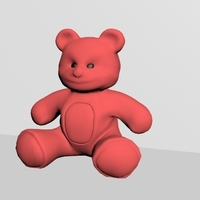 Small teddy toy 3D Printing 243617