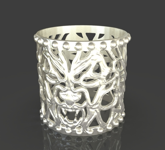 Jewelry Vampire And Wolfman Bracelet 3D Print 243631
