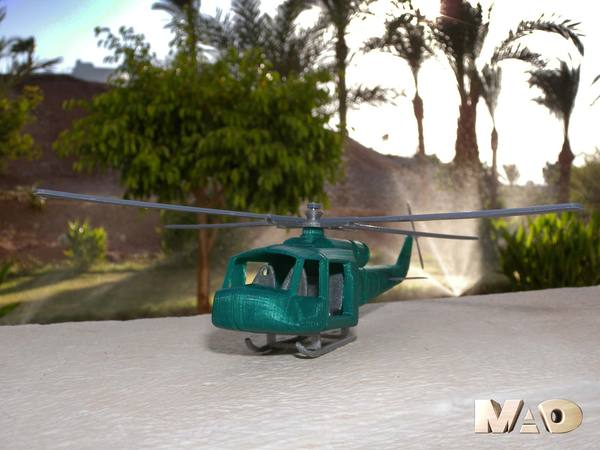 Medium army chopper 3D Printing 24365