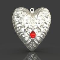 Small Jewelry Vampire Heart Pendant 3D Printing 243672