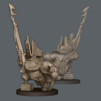 Small Dwarf Pirate ARRRGH! 3D Printing 243696