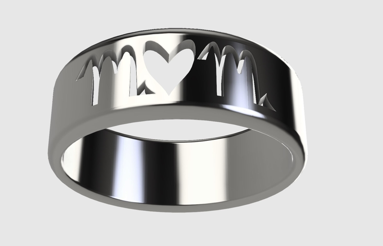 Mom Ring/Mothers Day (Makes a great gift!)  3D Print 243736