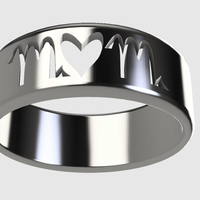 Small Mom Ring/Mothers Day (Makes a great gift!)  3D Printing 243736