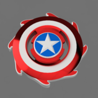 Small Captain America Beyblade 3D Printing 243738