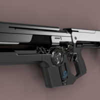 Small Destiny Uriels gift assault rifle Destiny 2  3D Printing 244045
