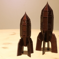 Small Steampunk Rocket 3D Printing 244050