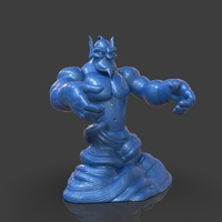 Small Aladdin's Genie Evil Mode (One Piece) 3D Printing 244090