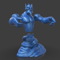 Small Aladdin's Genie Evil Mode (Separate Parts) 3D Printing 244127