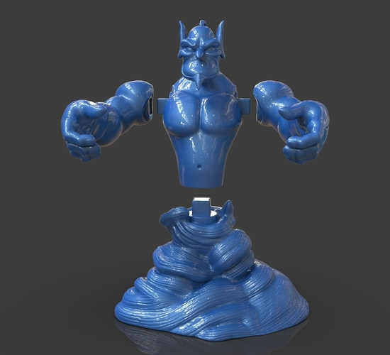 Aladdin's Genie Evil Mode (Separate Parts) 3D Print 244128