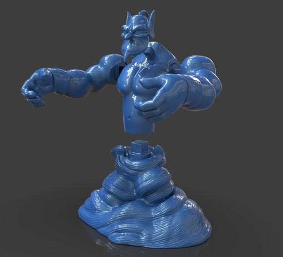 Aladdin's Genie Evil Mode (Separate Parts) 3D Print 244129