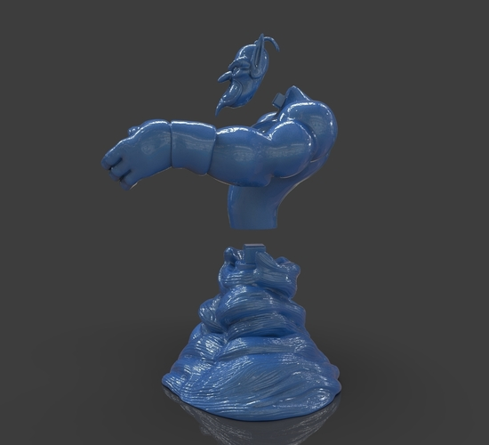Aladdin's Genie Evil Mode (Separate Parts) 3D Print 244130