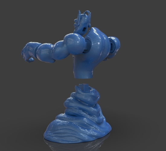 Aladdin's Genie Evil Mode (Separate Parts) 3D Print 244131