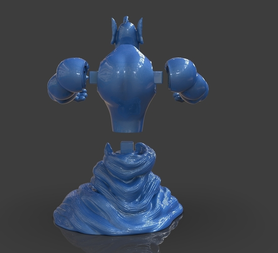 Aladdin's Genie Evil Mode (Separate Parts) 3D Print 244132