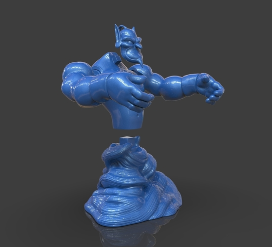 Aladdin's Genie Evil Mode (Separate Parts) 3D Print 244135