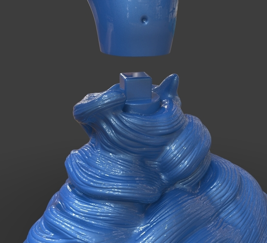 Aladdin's Genie Evil Mode (Separate Parts) 3D Print 244136