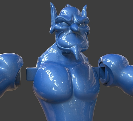 Aladdin's Genie Evil Mode (Separate Parts) 3D Print 244138