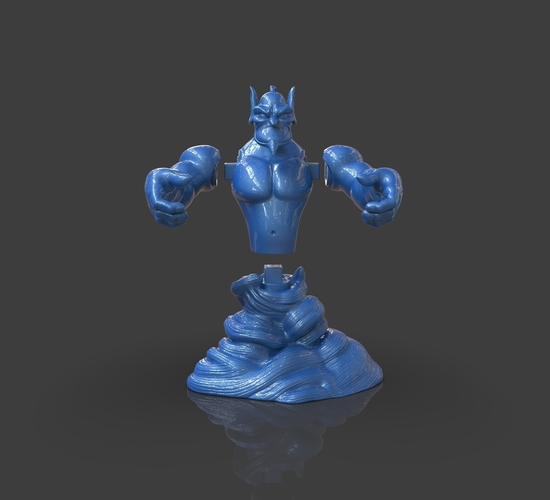 Aladdin's Genie Evil Mode (Separate Parts) 3D Print 244143