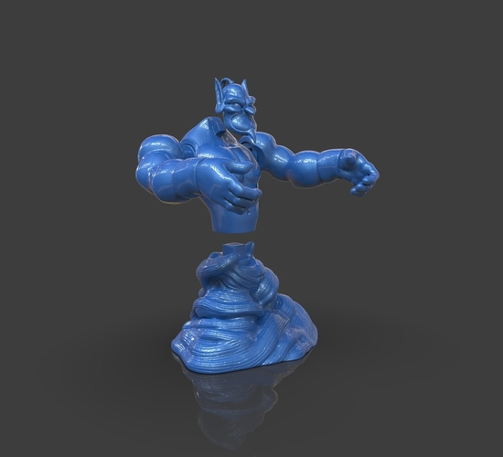 Aladdin's Genie Evil Mode (Separate Parts) 3D Print 244144