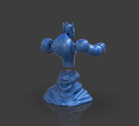 Aladdin's Genie Evil Mode (Separate Parts) 3D Print 244145