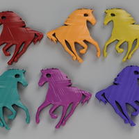 Small Horse keychain 3D Printing 244195