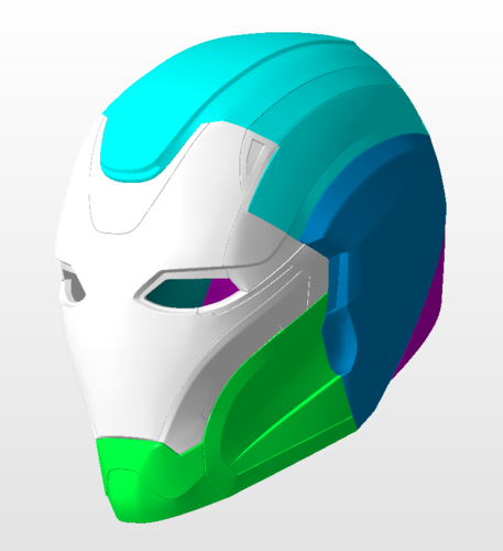 Pepper Pots Mark 49 helmet model for 3D-printing, DIY (may 16) 3D Print 244214