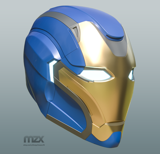 Pepper Pots Mark 49 helmet model for 3D-printing, DIY (may 16) 3D Print 244217