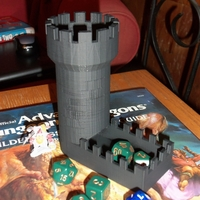 Small Detailed Dice Tower 3D Printing 244247