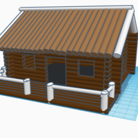 Small Hunting Cabin 3D Printing 244344