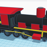 Small Steam Locomotive  3D Printing 244346