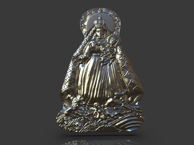 Our Lady Of Charity Carved Sculpture 3D Print 244516