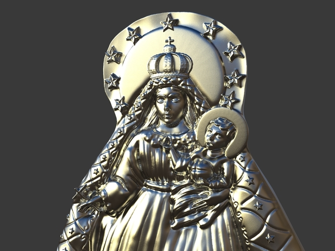 Our Lady Of Charity Carved Sculpture 3D Print 244518