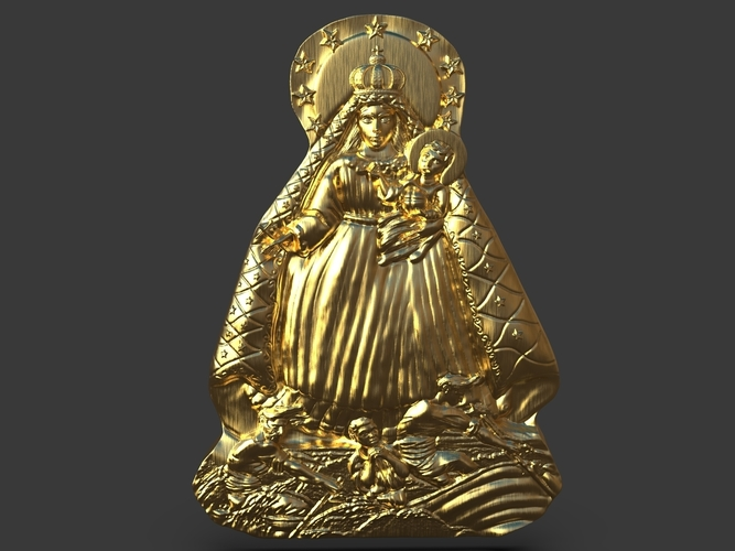 Our Lady Of Charity Carved Sculpture 3D Print 244520