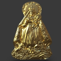 Small Our Lady Of Charity Carved Sculpture 3D Printing 244520