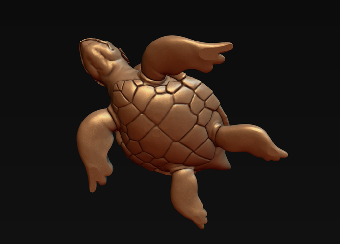 Turtle with Tiki Mask Ornament 3D Print 244574