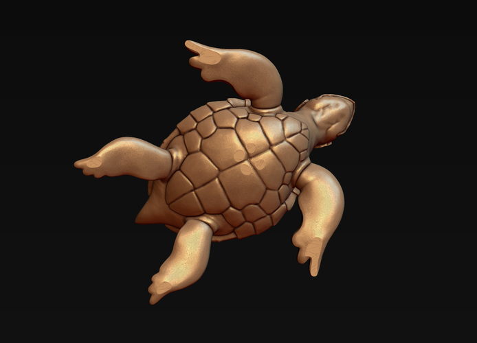 Turtle with Tiki Mask Ornament 3D Print 244575