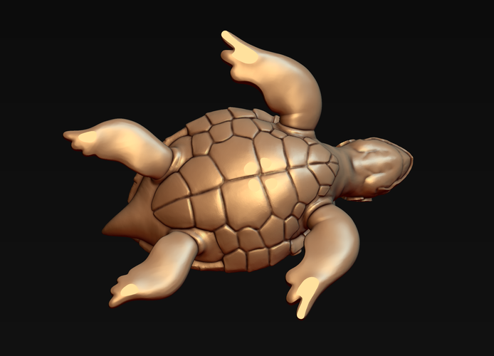 Turtle with Tiki Mask Ornament 3D Print 244579